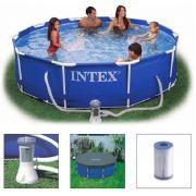 Piscina Intex 4485 Litros Estrutural com Bomba Filtrante 110v + CAPA - GIFTCENTER