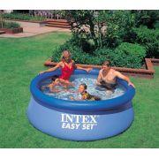 Piscina Intex 2419 L + Bomba Filtrante 110v + Bomba de Inflar + CAPA - GIFTCENTER