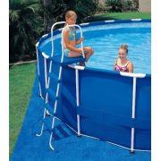 Escada para Piscina Intex 132 cm de Altura cor Azul #28063 - GIFTCENTER