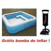 Piscina Inflável Sofina 1050 Litros + Bomba de Inflar Q1 - GIFTCENTER