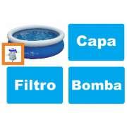 Piscina Nautika 2600 Litros + Bomba de Inflar + Capa + Bomba Filtrante 1249 LH 110v - GIFTCENTER