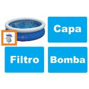 Piscina Nautika 4600 Litros + Bomba de Inflar + Capa + Bomba Filtrante 1249 LH 110v - GIFTCENTER