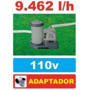 Bomba Filtrante Piscina Intex 9462 LH 110v #28633 + PAR DE ADAPTADORES B - GIFTCENTER