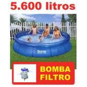 Piscina Bestway 5600 Litros com Bomba Filtrante 110v - GIFTCENTER