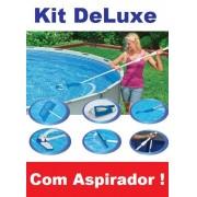 Kit de Limpeza Intex DELUXE com Aspirador Peneira Escova Cabo #28003 - GIFTCENTER