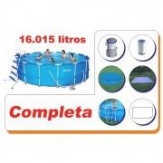Piscina Bestway 16015 Litros Estrutural Completa - GIFTCENTER