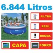 Piscina Bestway 6665 Litros + Bomba Filtrante 110v + Capa + Forro + Q1 - GIFTCENTER
