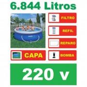 Piscina Bestway 6665 Litros + Bomba Filtrante 220v + Capa + Q1 - GIFTCENTER