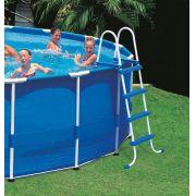 Escada para Piscina Intex 122 cm de altura cor Azul #28062 - GIFTCENTER