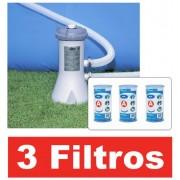 Bomba Filtrante Intex 2006 LH 110v com 03 cartuchos refil filtro (2 + 1) - GIFTCENTER