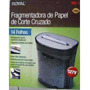 Fragmentadora de Papel Royal HG 14 Folhas Corte Cruzado Fragmenta Cartão de Crédito Plástico CD DVD - GIFTCENTER