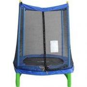 Trampolim 1,40 M C Rede De Proteção Cama Elástica Pula Pula verde e azul peq - GIFTCENTER