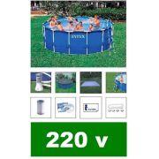 Piscina Intex 14614 Litros Estrutural Filtro Escada Capa Bomba Filtrante 220v #28234 - GIFTCENTER