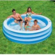 Piscina Intex 647 Litros Inflável Azul Cristal Família #57481 - GIFTCENTER