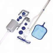 Kit de Limpeza para Piscina Bestway Deluxe Peneira Skimmer Aspirador #58237 - GIFTCENTER