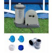 Bomba Filtrante Intex 5678 LH 110v + Par de Adaptadores B + Coadores e Conexões - GIFTCENTER