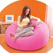 Poltrona Beanless Juvenil Intex Rosa Pink Puff #68569 - GIFTCENTER