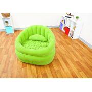 Poltrona Lounge Juvenil Puff Verde #68563 Intex - GIFTCENTER