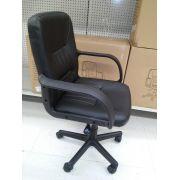 Cadeira Secretária Giratória com Braços e Regulagem de Altura a Gás MSTS - GIFTCENTER