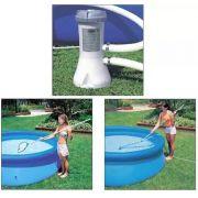 Kit de Limpeza Intex com Aspirador e Peneira + Bomba Filtrante Intex 3785 LH 220v - GIFTCENTER
