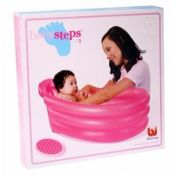 Banheirinha Inflavel 51113 Bestway Rosa Baby Steps Banheira - GIFTCENTER