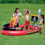 Piscina Inflável Infantil Barco Pirata Bestway Play Center #53041 - GIFTCENTER