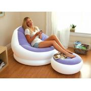 Conjunto Poltrona e Puff ROXO Intex Lounge Chaise #68572 - GIFTCENTER
