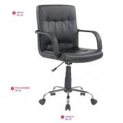 Cadeira Executiva Giratória Regulagem Gás BASE CROMADA CRX - GIFTCENTER
