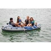 Bote Inflável Intex Excursion 4 Pessoas Par de Remos Bomba de Inflar #68324 - GIFTCENTER