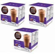 Nescafé Dolce Gusto MOCHA Kit com 03 CAIXAS Total 48 Cápsulas Chocolate - GIFTCENTER