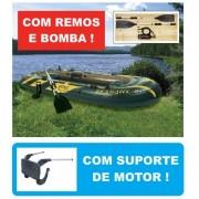 Bote Inflável Intex Seahawk 4 #68351 + SUPORTE DE MOTOR - GIFTCENTER