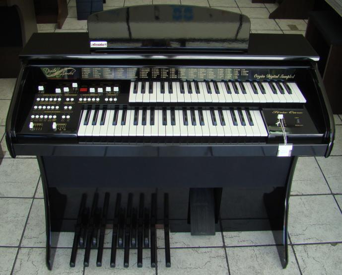 Órgão Eletrônico Acordes DSPIC 2D Preto Alto Brilho