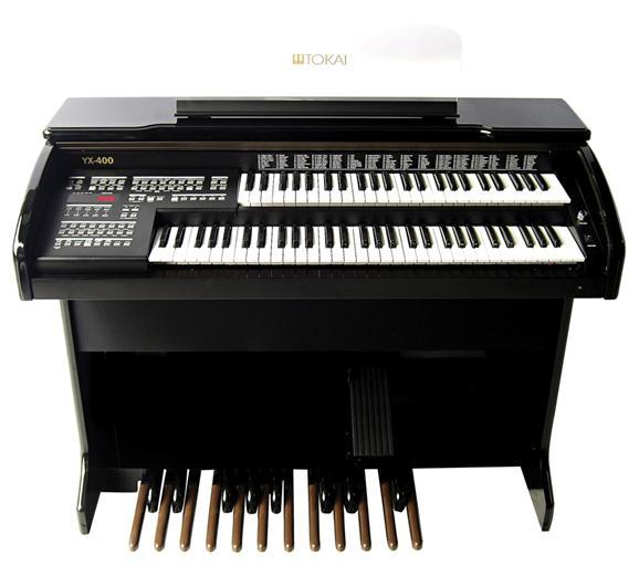 Órgão Eletrônico Organist YX 400 Preto Alto Brilho. Promoção por tempo limitado!  - Teclasom Instrumentos Musicais Ltda