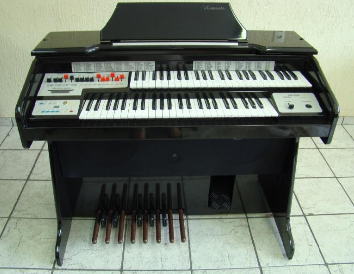 �rg�o Eletr�nico Harmonia HS-200 Preto Alto Brilho