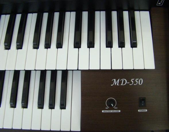 Órgão Eletrônico Tokai MD 550 Wengue  - Teclasom Instrumentos Musicais Ltda