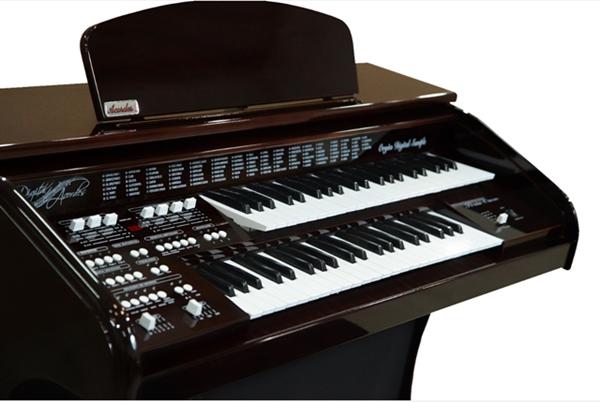 Órgão Eletrônico Acordes DSPIC 2D Imbuia Alto Brilho