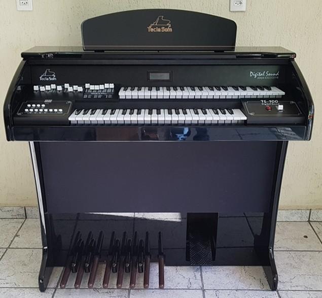 Órgão Eletrônico Teclasom TS 100 Cor Preto Alto Brilho