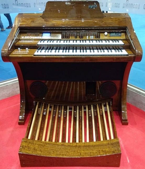Órgão Eletrônico Harmonia HS 500 Orquestra Imbuia