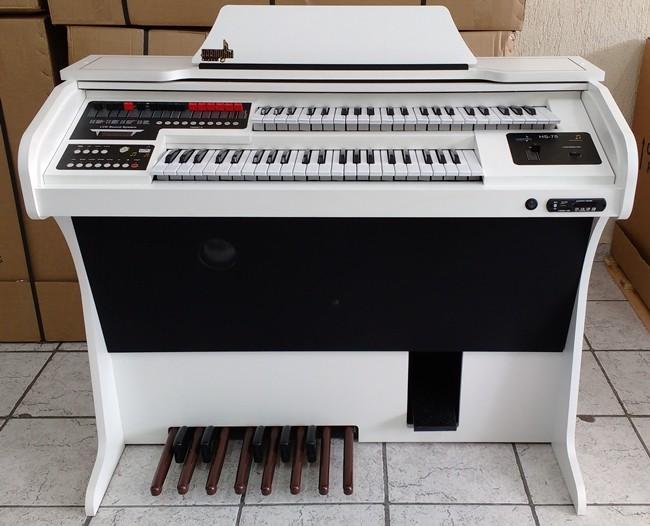Órgão Eletrônico Harmonia HS 75 Branco. O menor preço SP!