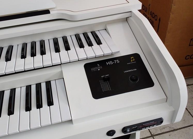 Órgão Eletrônico Harmonia HS 75 Branco. O menor preço SP!  - Teclasom Instrumentos Musicais Ltda