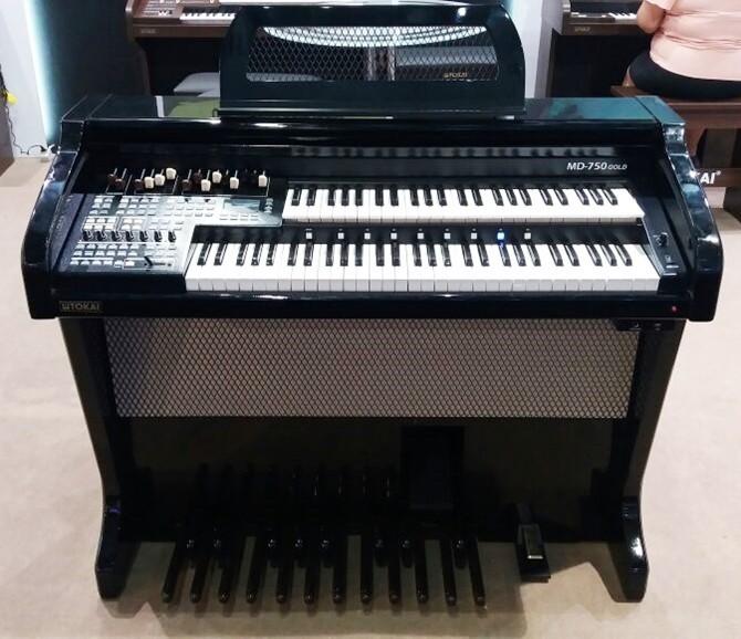 Órgão Eletrônico Tokai MD 750 GOLD Preto Alto Brilho. Conheça!  - Teclasom Instrumentos Musicais Ltda