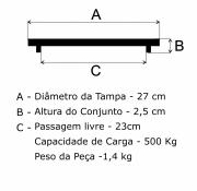 Tampão Aterramento 25cm FF - FUNDIÇÃO VESUVIO
