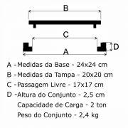 Tampão T 20x20cm Simples Em FF - FUNDIÇÃO VESUVIO