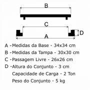 Tampão T 30x30cm Simples Em FF - FUNDIÇÃO VESUVIO