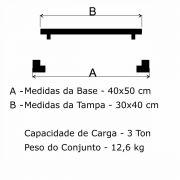 Tampão T 30x40cm Articulado Cesan Em FF - FUNDIÇÃO VESUVIO