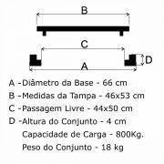 Tampão T-33 Articulado Redondo (46x53cm) Em FF - FUNDIÇÃO VESUVIO