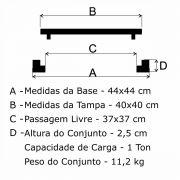 Tampão T 40x40cm Articulado Em FF - FUNDIÇÃO VESUVIO