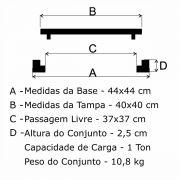 Tampão T 40x40cm Simples Em FF - FUNDIÇÃO VESUVIO
