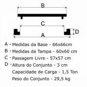 Tampão T 60x60cm Simples Em FF - FUNDIÇÃO VESUVIO