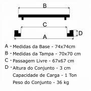 Tampão T 70x70cm Simples Em FF - FUNDIÇÃO VESUVIO